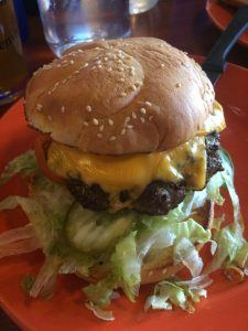 All American cheeseburger