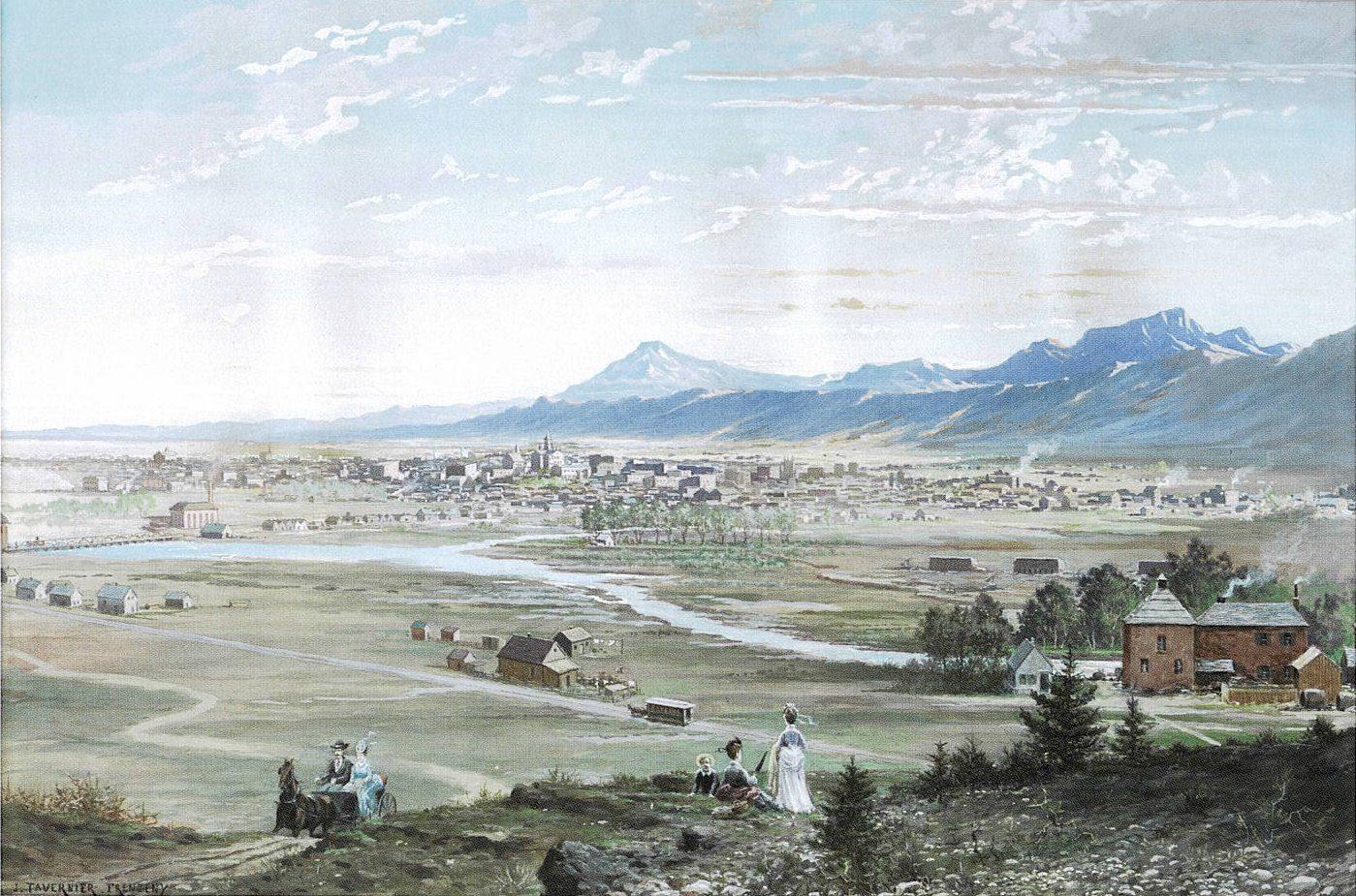 Paul Frenzeny and Jules Tavernier, Denver from the Highlands, 1874