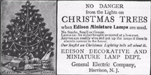 1895 - homas Edison lights first indoor Christmas tree